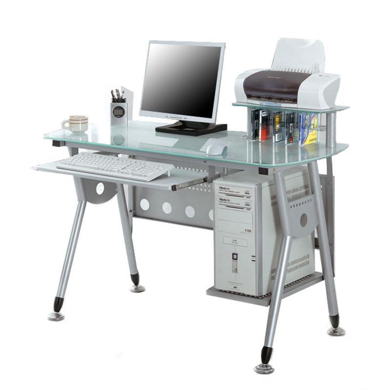 computertisch tisch glastisch schreibtisch glas ct 3783 40 sixbros ebay. Black Bedroom Furniture Sets. Home Design Ideas