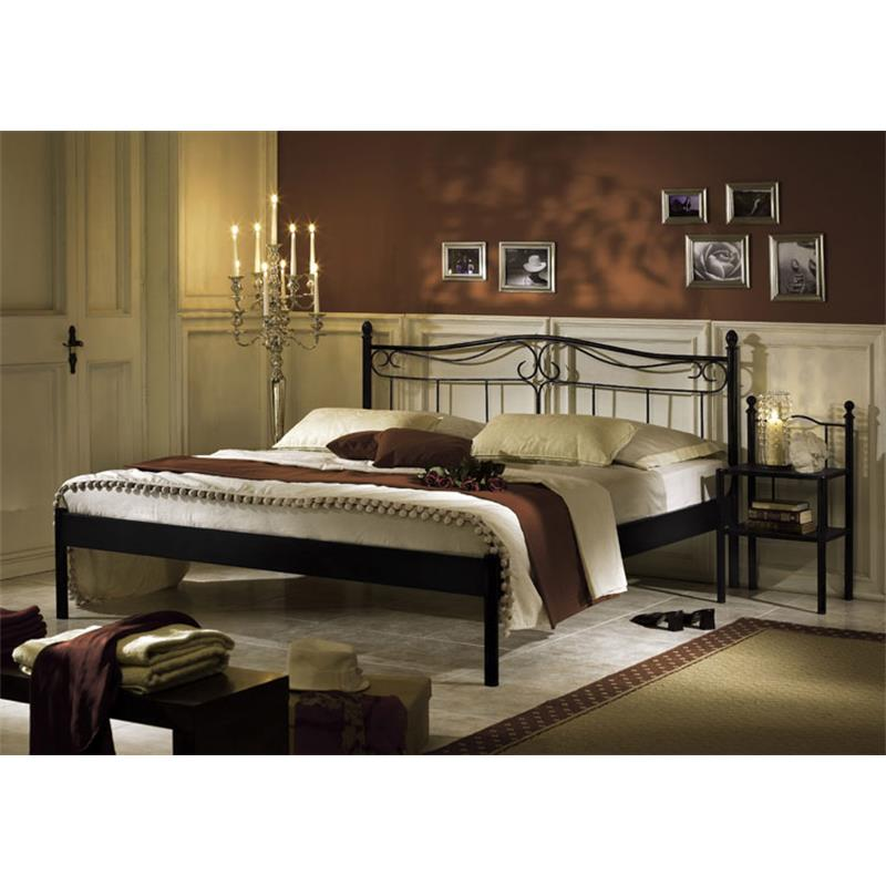 metallbett bett schwarz liana verschiedene gr ssen sixbros ebay. Black Bedroom Furniture Sets. Home Design Ideas