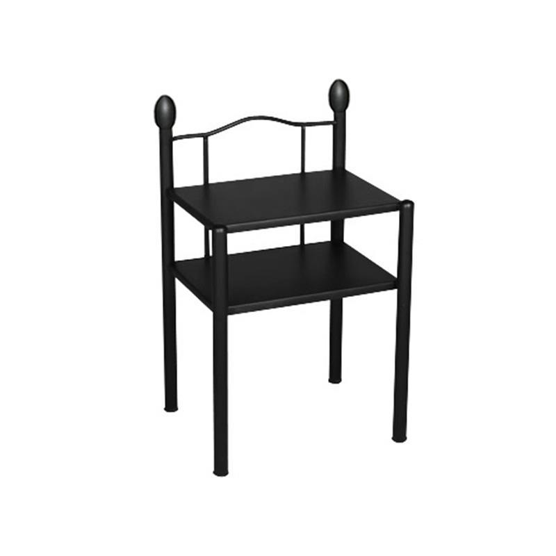 nachttisch beistelltisch metall nachtkosole liana schwarz sixbros ebay. Black Bedroom Furniture Sets. Home Design Ideas