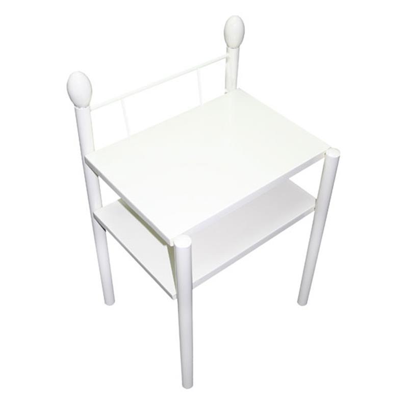 nachttisch beistelltisch metall nachtkonsole liana. Black Bedroom Furniture Sets. Home Design Ideas