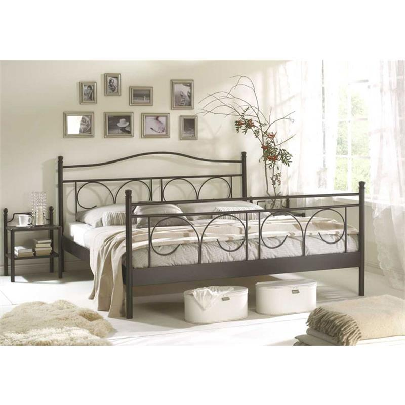 Metallbett Bett Schwarz Schlafzimmer Ines Verschiedene Grössen