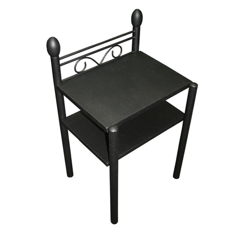 nachttisch beistelltisch metall nachtkonsole ines schwarz sixbros ebay. Black Bedroom Furniture Sets. Home Design Ideas