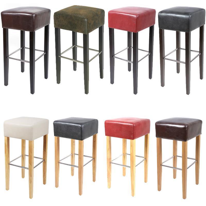 sixbros barhocker bistrohocker buche kunstleder stoff bezug farbwahl bar 02 ebay. Black Bedroom Furniture Sets. Home Design Ideas