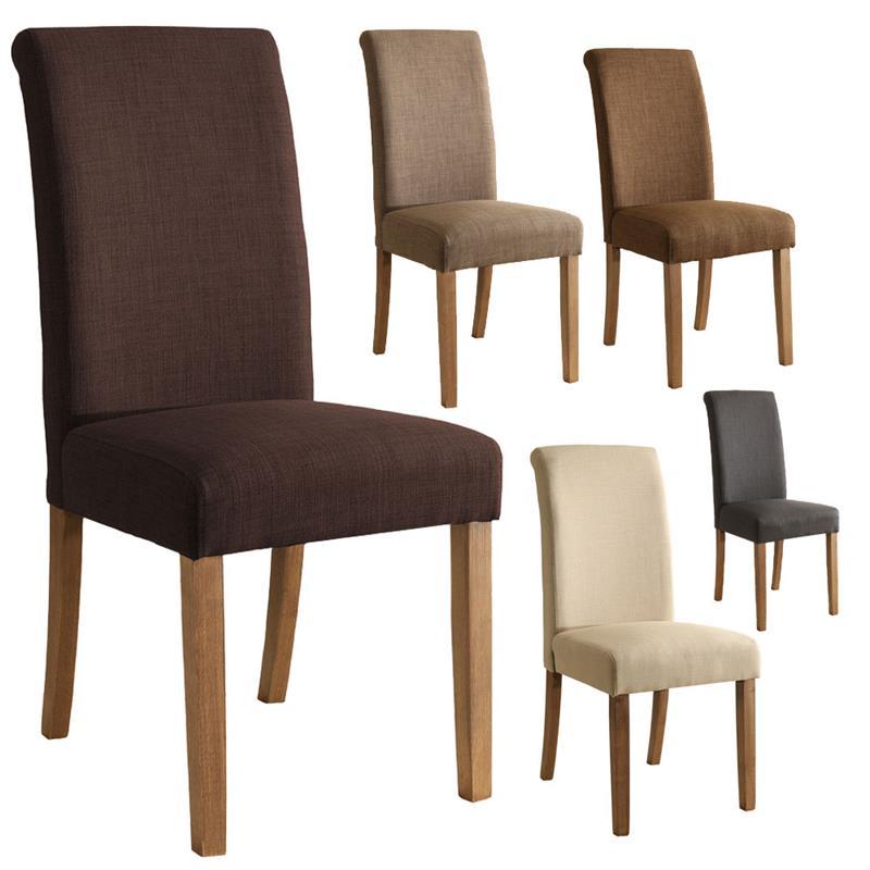 Sixbros silla de comedor silla tapizada haya tela varios for Sillas comedor color beige