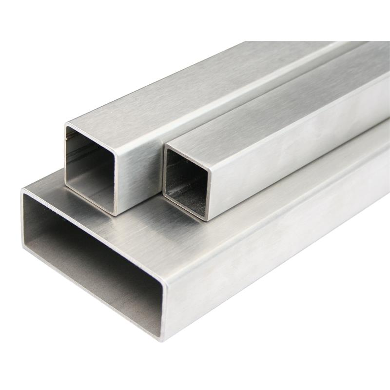 Stainless steel box section rectangular pipe cut profile