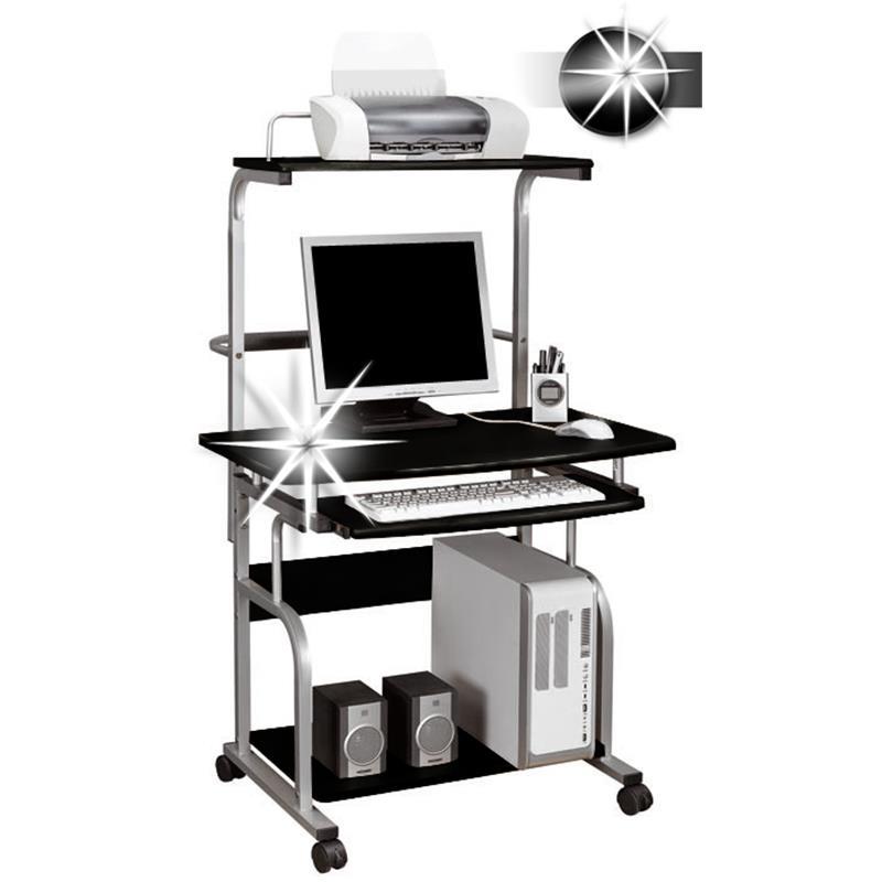 Sixbros computerschreibtisch schreibtisch pc hochglanz for Schreibtisch hochglanz schwarz