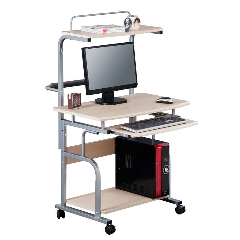 sixbros computerschreibtisch computertisch pc schreibtisch ahorn ct 7800 1298 ebay. Black Bedroom Furniture Sets. Home Design Ideas