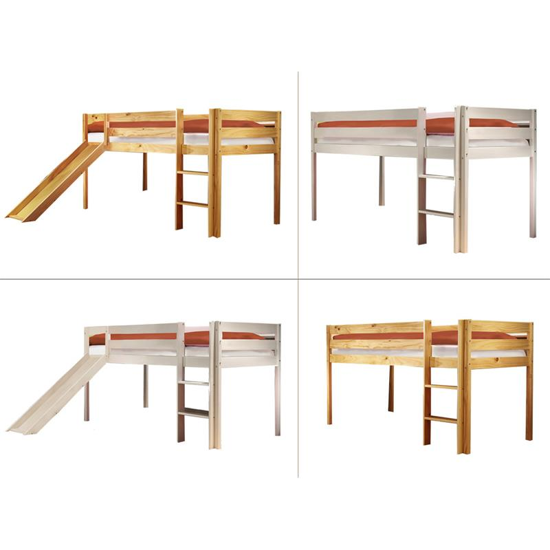 sixbros hochbett kinderbett etagenbett massiv kiefer rutsche spielbett 90x200 ebay. Black Bedroom Furniture Sets. Home Design Ideas
