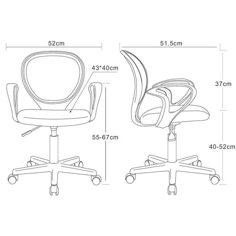 sixbros b rostuhl drehstuhl schreibtischstuhl pink. Black Bedroom Furniture Sets. Home Design Ideas