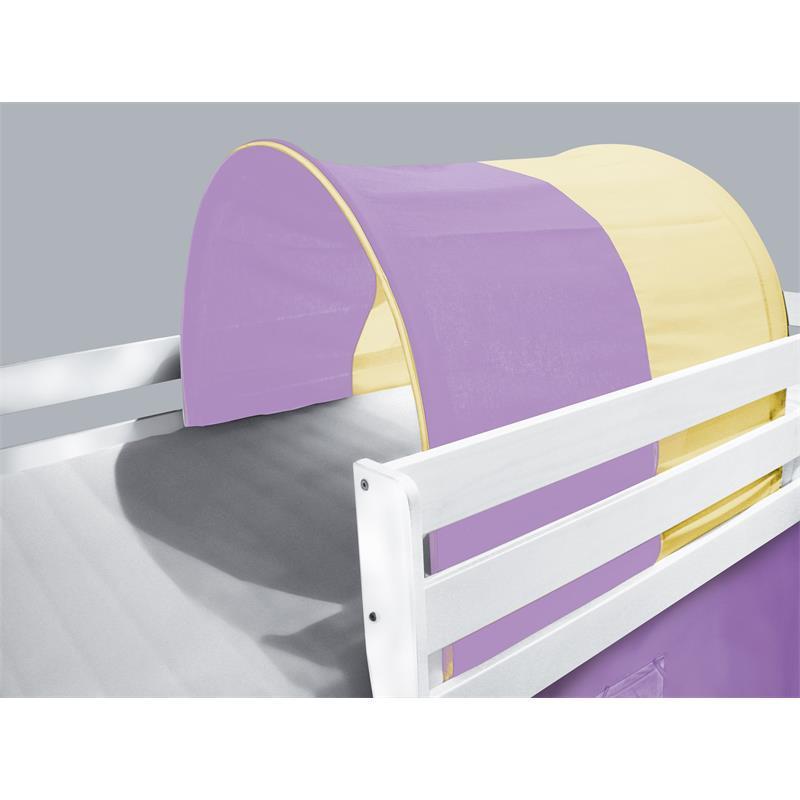 tunnel h hle f r hochbett spielbett etagenbett lila. Black Bedroom Furniture Sets. Home Design Ideas
