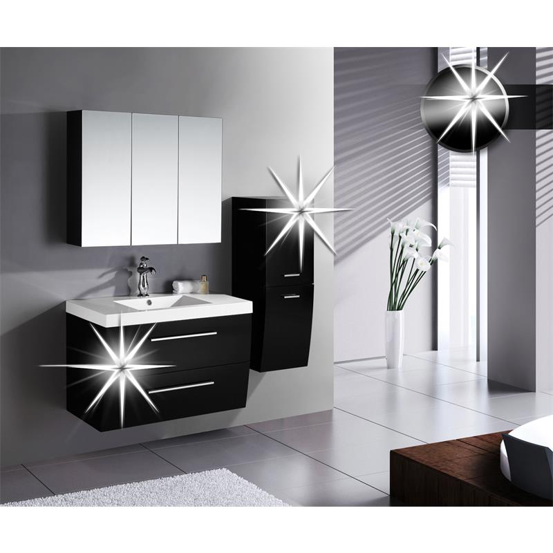 badezimmerm bel badm bel set hochglanz schwarz badset. Black Bedroom Furniture Sets. Home Design Ideas