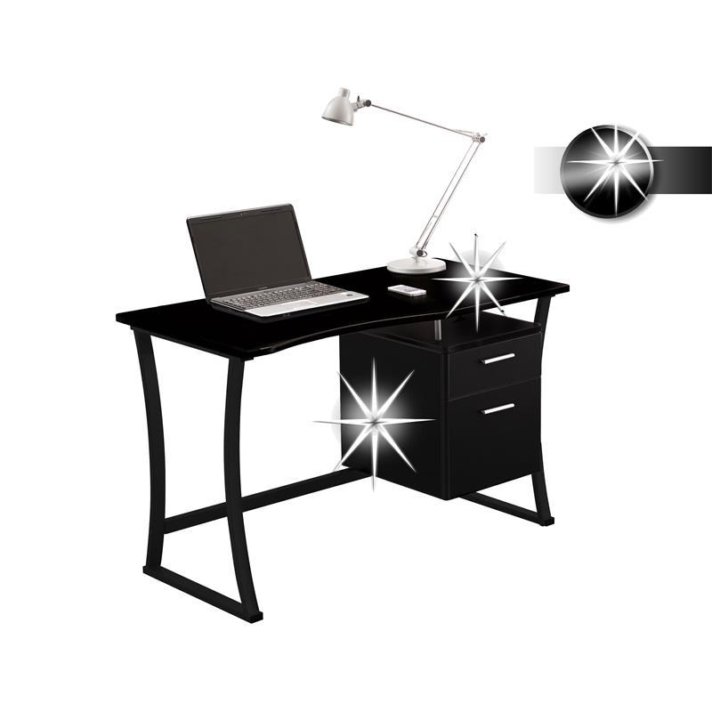 sixbros computerschreibtisch pc tisch schreibtisch. Black Bedroom Furniture Sets. Home Design Ideas