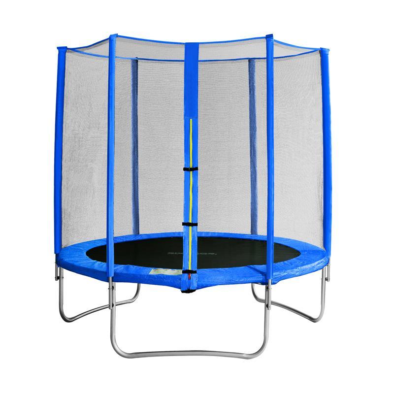 sixbros sixjump 1 85 m gartentrampolin blau trampolin mit. Black Bedroom Furniture Sets. Home Design Ideas
