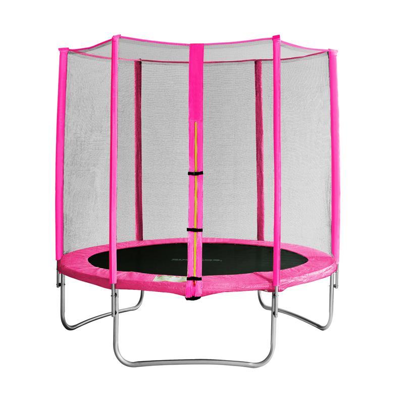 sixbros sixjump 1 85 m gartentrampolin pink trampolin mit netz cst185 l1565 ebay. Black Bedroom Furniture Sets. Home Design Ideas