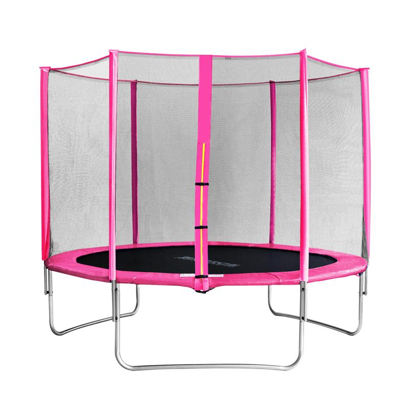sixbros sixjump 10ft m garden trampoline pink with enclosure cst305 l1688 ebay. Black Bedroom Furniture Sets. Home Design Ideas