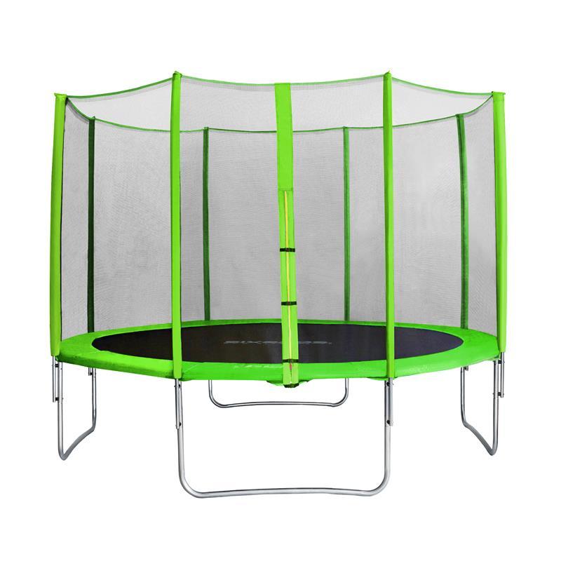 Sixbros sixjump 3 70 m trampoline vert avec filet pour le - Filet plastique jardin ...