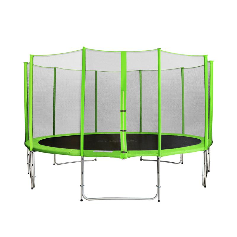 Orbounder 14 Foot Trampoline With Enclosure Green: SIXBROS. SIXJUMP 14FT 4,30 M GARDEN TRAMPOLINE GREEN WITH