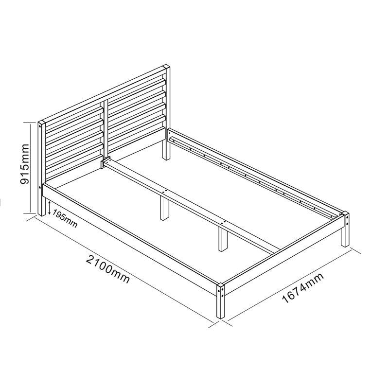 SixBros. Holzbett Doppelbett Bett Kiefer Futonbett 160X200 ...