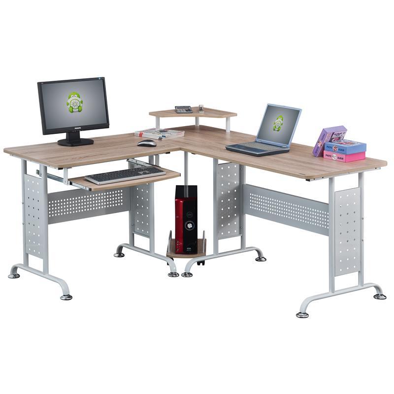 Pc Tisch Weiß Ikea ~ PC Tisch EicheWeiß  CT38071839