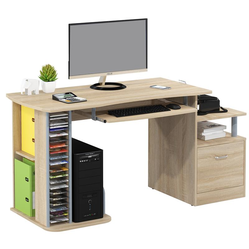 sixbros computerschreibtisch b rotisch schreibtisch eiche optik s 202a 1845. Black Bedroom Furniture Sets. Home Design Ideas