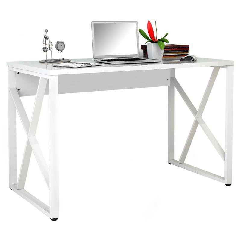 scrivanie in vetro satinato : Scrivania Per Pc Office In Metallo E Vetro Satinato Vendita Online 2 ...