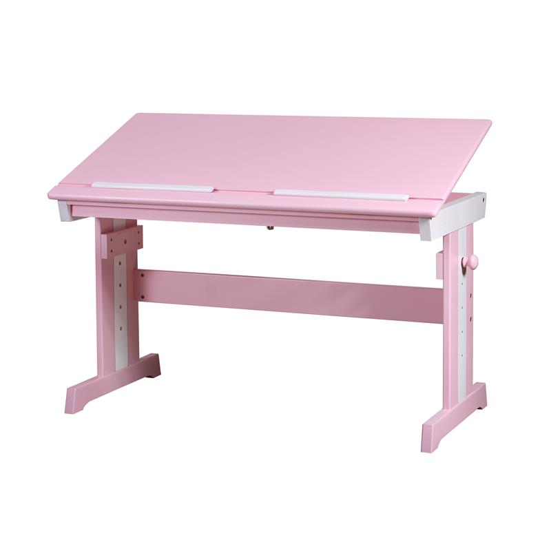 sixbros kinderschreibtisch schreibtisch massiv kiefer pink wei rd00177 1 1872 ebay. Black Bedroom Furniture Sets. Home Design Ideas