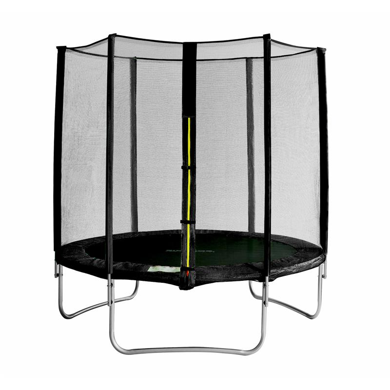 sixbros sixjump 1 85 m gartentrampolin schwarz trampolin mit netz ts185 1923 ebay. Black Bedroom Furniture Sets. Home Design Ideas