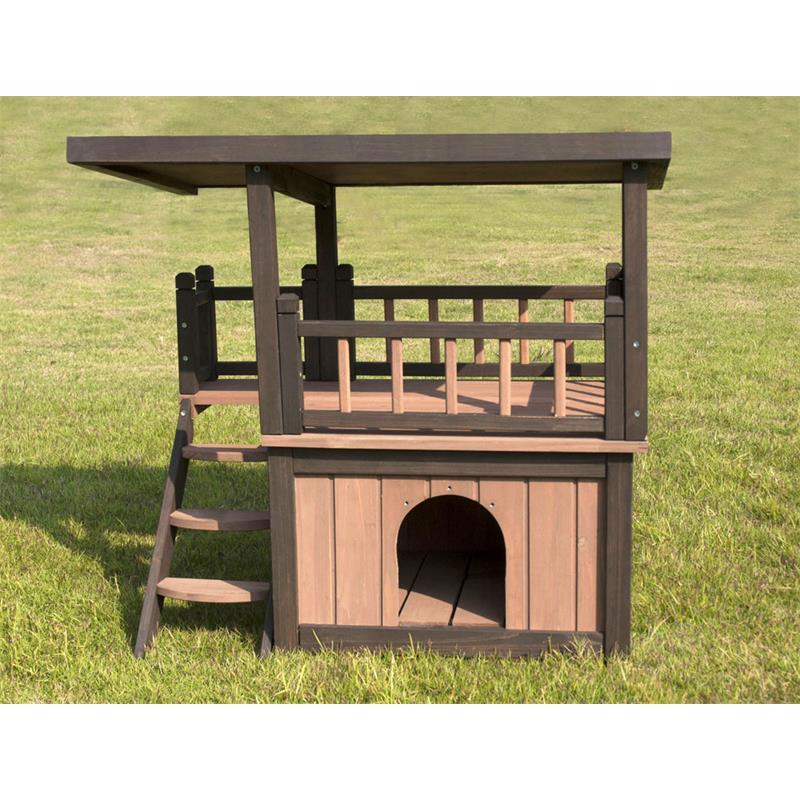 sixbros hunde und katzenh tte holz wetterfest mit balkon w20017 s 1997 ebay. Black Bedroom Furniture Sets. Home Design Ideas