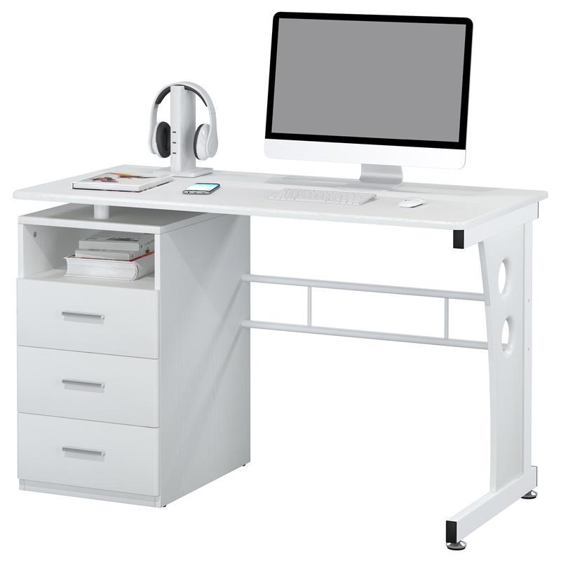 Pc Tisch Weiß Ikea ~ SixBros Computerschreibtisch Tisch PCTisch weiß S3522073  eBay