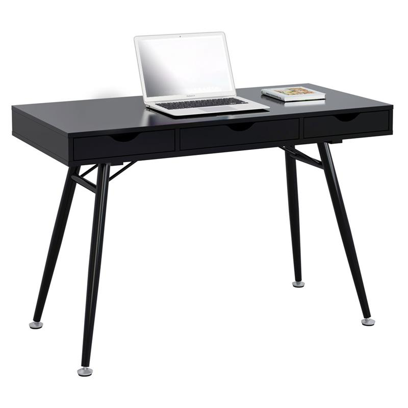 sixbros computertisch computerschreibtisch pc home office schwarz ct 3555na 2191 ebay. Black Bedroom Furniture Sets. Home Design Ideas