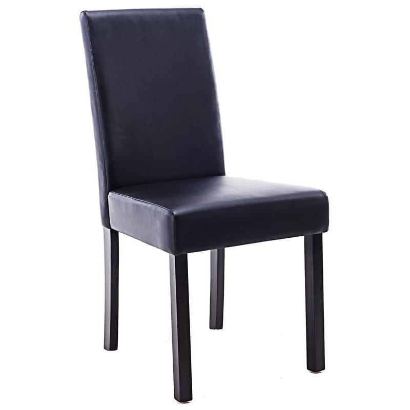 Sixbros chaise en bois de h tre massif en cuir synth tique diff rentes coule - Chaise en cuir a vendre ...