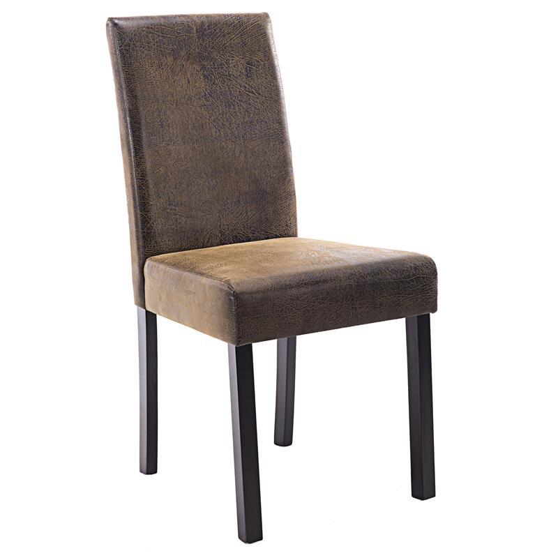 sixbros silla de comedor tapicer a cuero artificial color