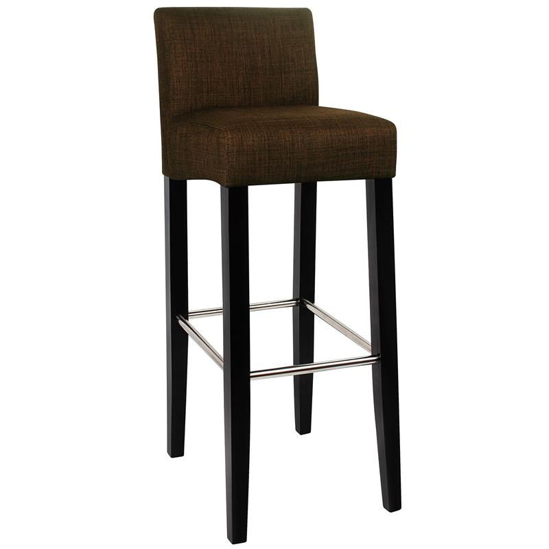 sixbros barhocker bistrohocker hocker barstuhl holz stoff braun bar 02 bs 2481. Black Bedroom Furniture Sets. Home Design Ideas