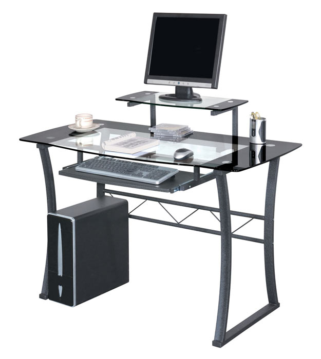 computertisch computerschreibtisch schreibtisch glas schwarz ct 3301 11 sixbros ebay. Black Bedroom Furniture Sets. Home Design Ideas