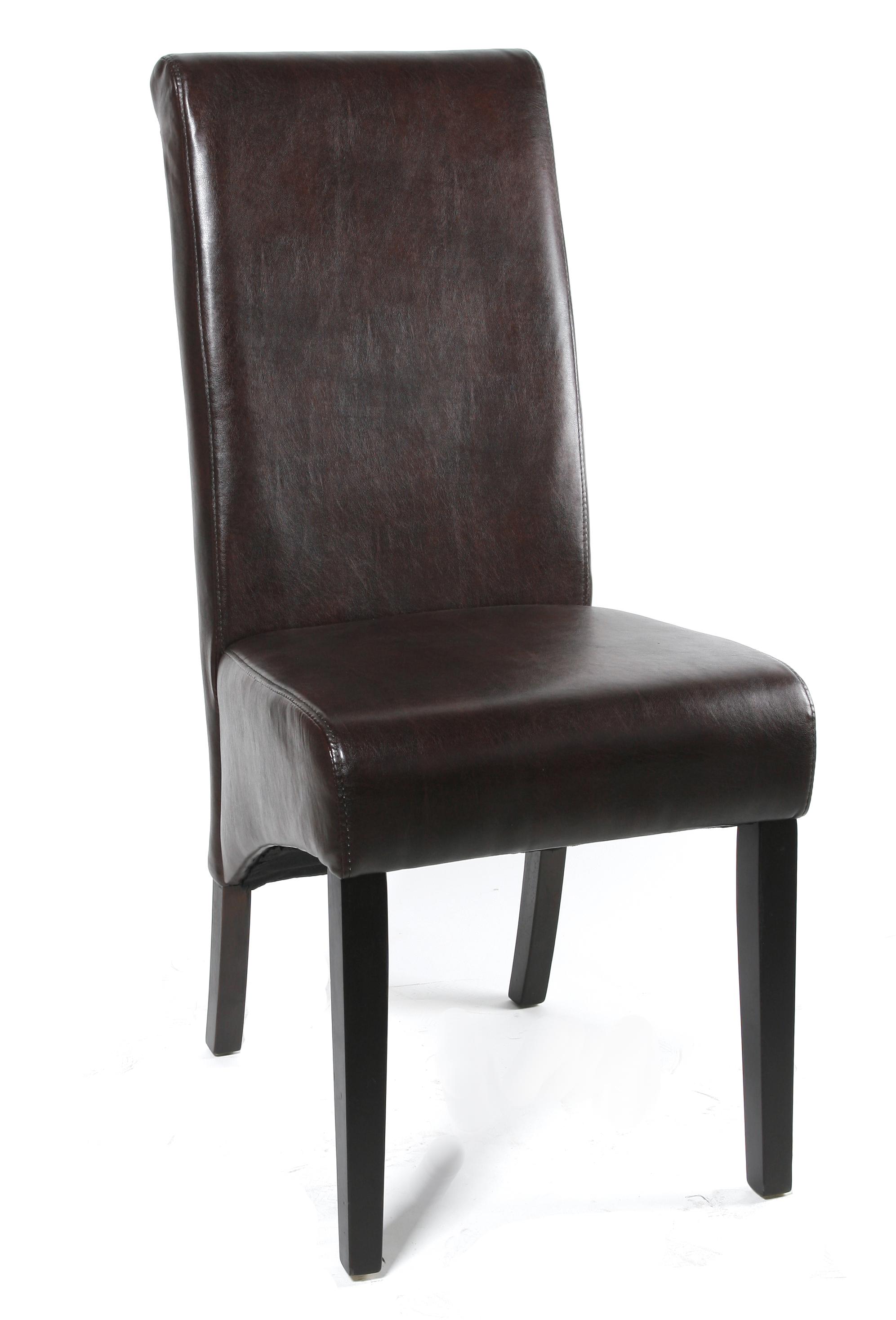 Sixbros chaise en bois de h tre massif en cuir for Chaise en hetre