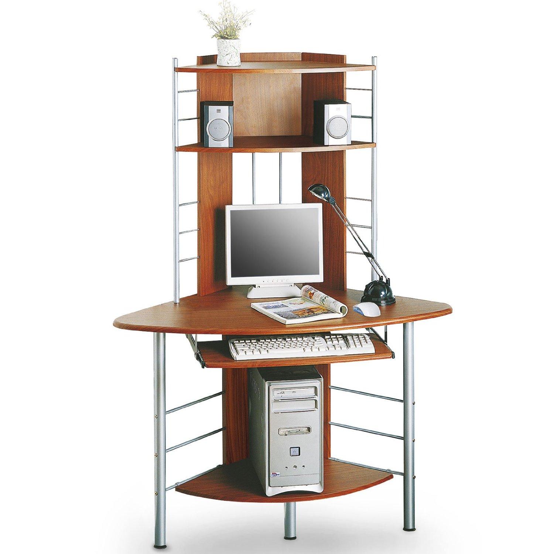sixbros corner computer desk workstation work table. Black Bedroom Furniture Sets. Home Design Ideas