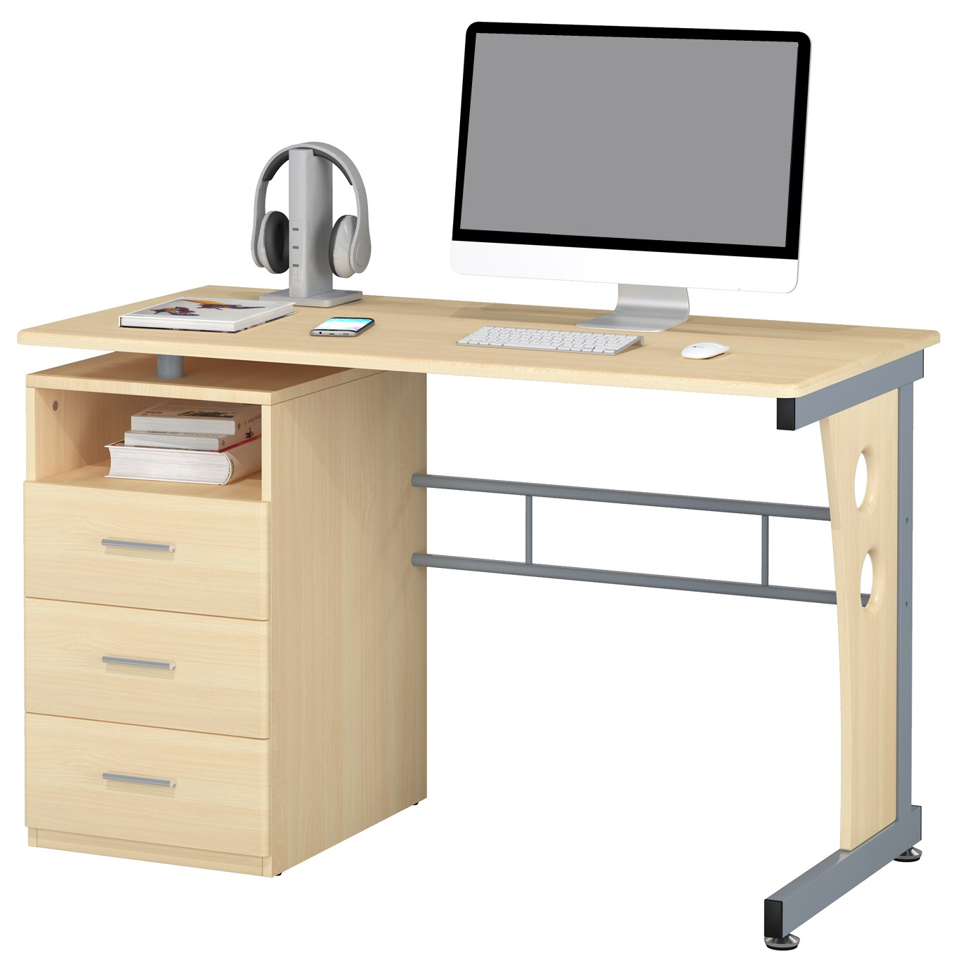 sixbros mesa ordenador mesa oficina mesa escritorio diferentes colores s 352 ebay. Black Bedroom Furniture Sets. Home Design Ideas