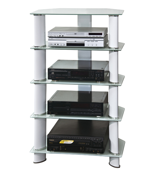 hifi tv regal rack audio schrank wei tv 03 127 sixbros ebay. Black Bedroom Furniture Sets. Home Design Ideas