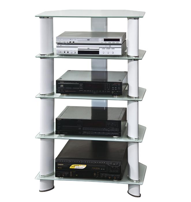 hifi tv regal rack audio schrank wei tv 03 127 sixbros ebay. Black Bedroom Furniture Sets. Home Design Ideas