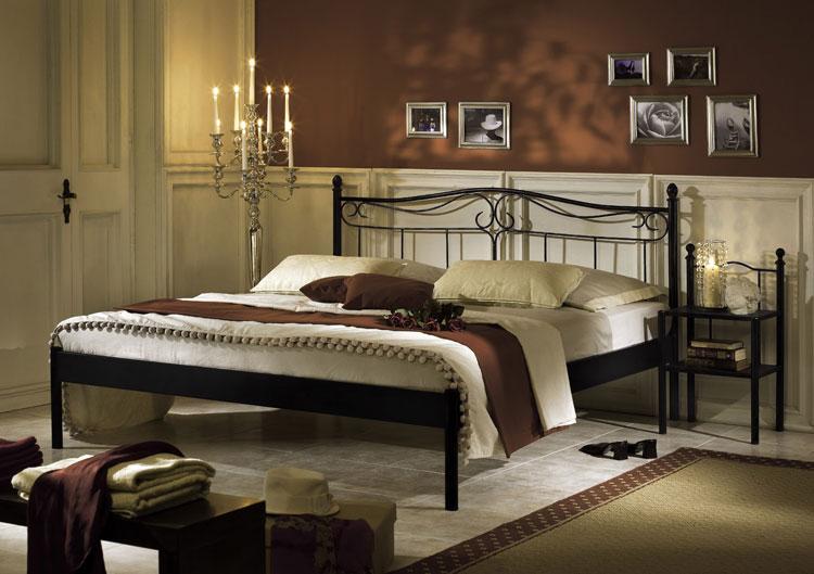 metallbett bett schwarz liana verschiedene gr ssen sixbros. Black Bedroom Furniture Sets. Home Design Ideas