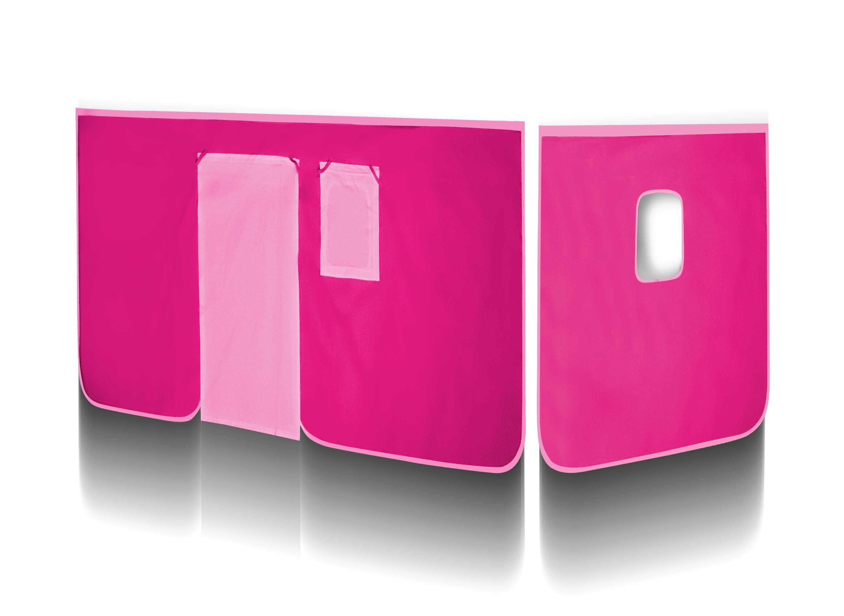 sixbros vorhang stoff set f r hochbett pink vh 1037 ebay. Black Bedroom Furniture Sets. Home Design Ideas