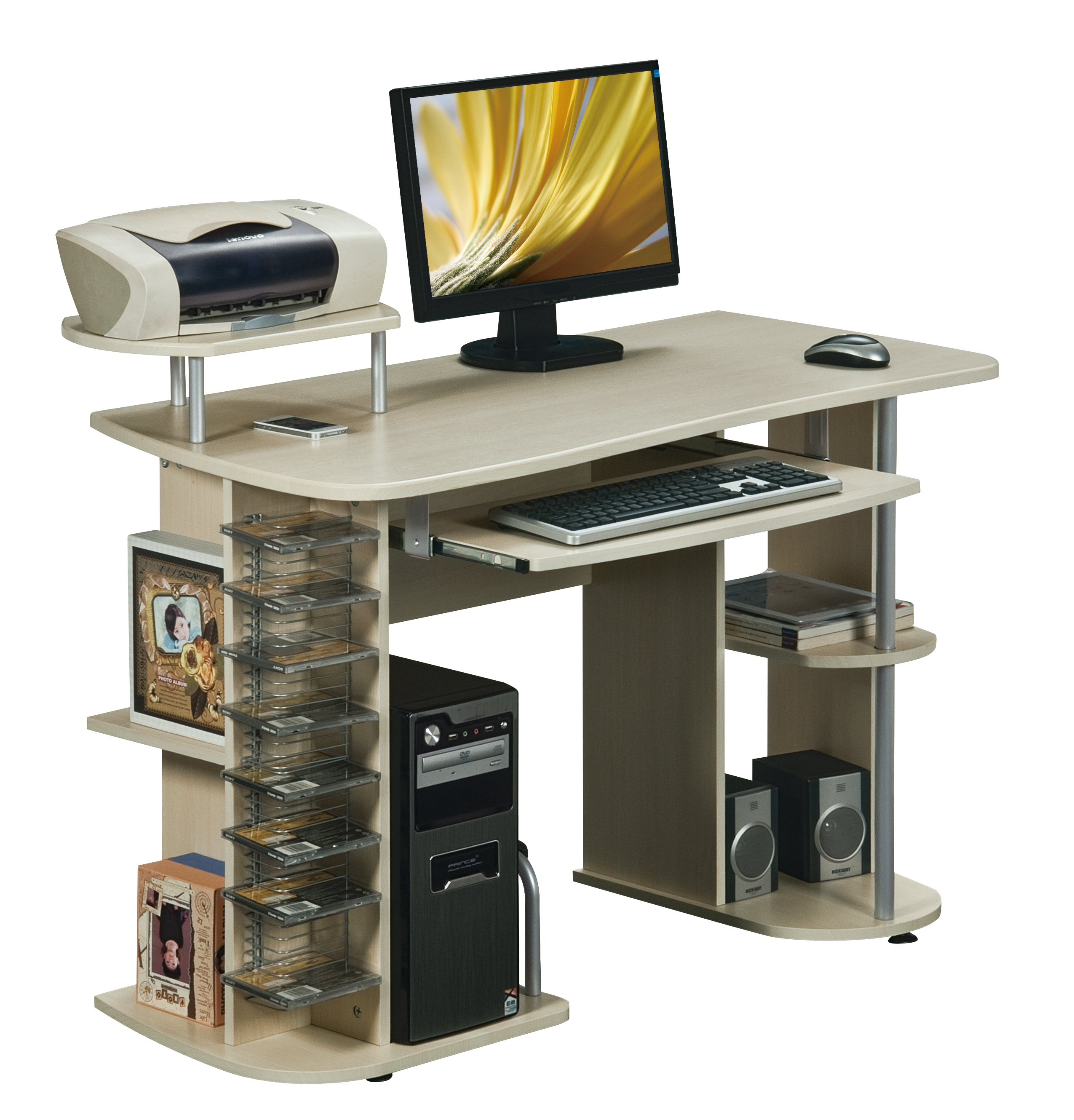 sixbros computer desk workstation work table different colors s 104 ebay. Black Bedroom Furniture Sets. Home Design Ideas