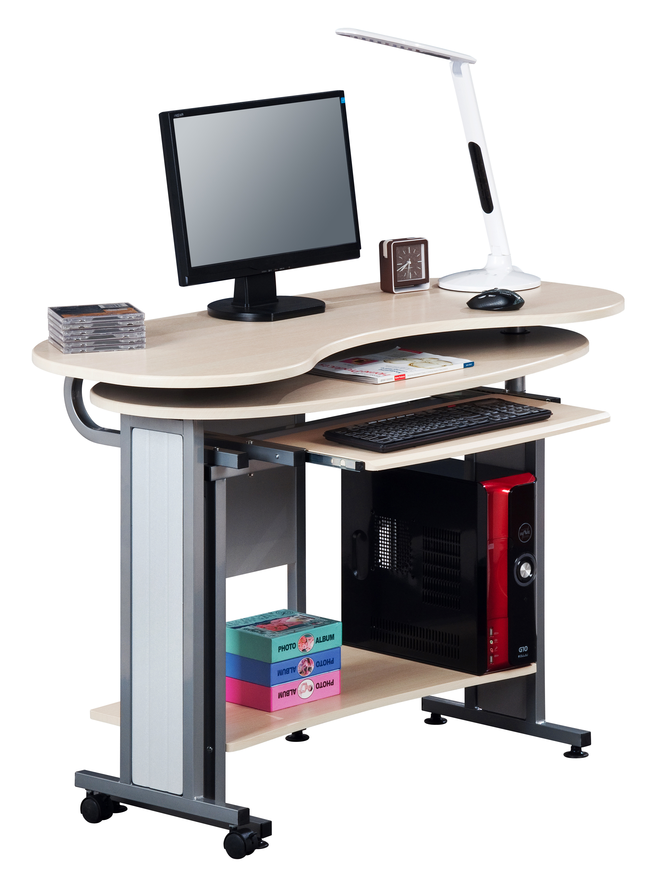 Sixbros scrivania porta pc tavolo ufficio diversi colori - Tavolo porta pc ...