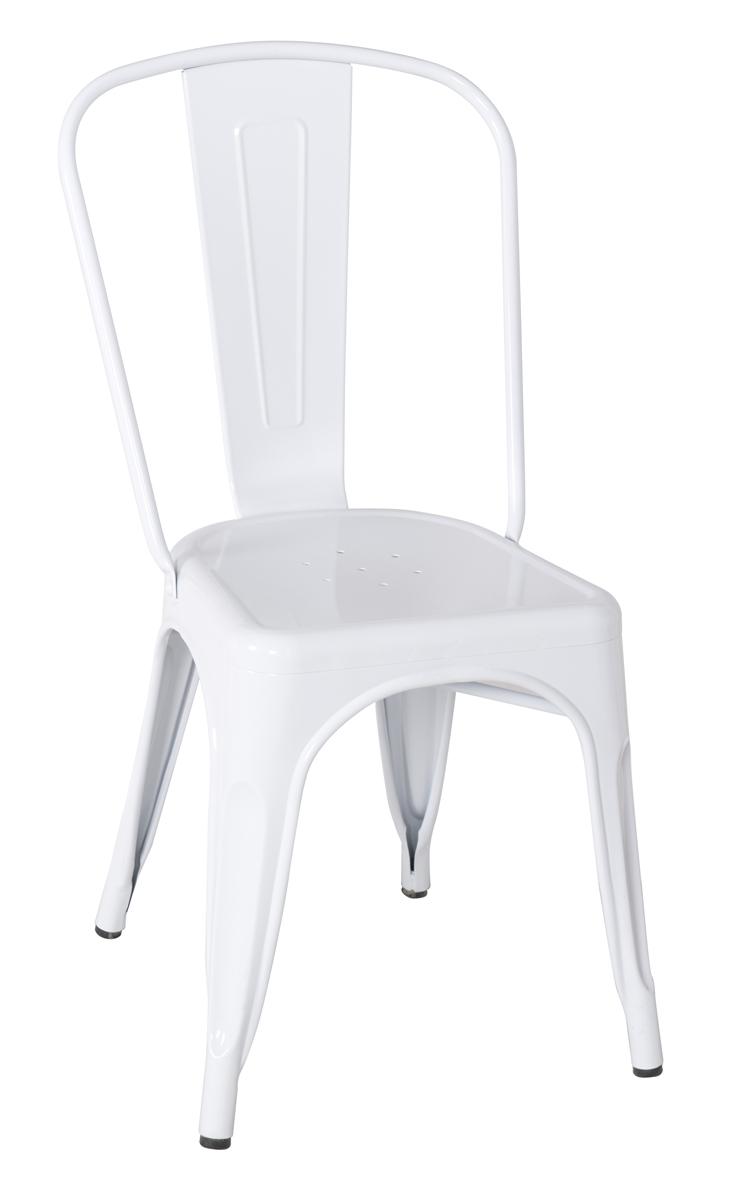 metallstuhl stuhl wei m 74522 1448 sixbros ebay. Black Bedroom Furniture Sets. Home Design Ideas