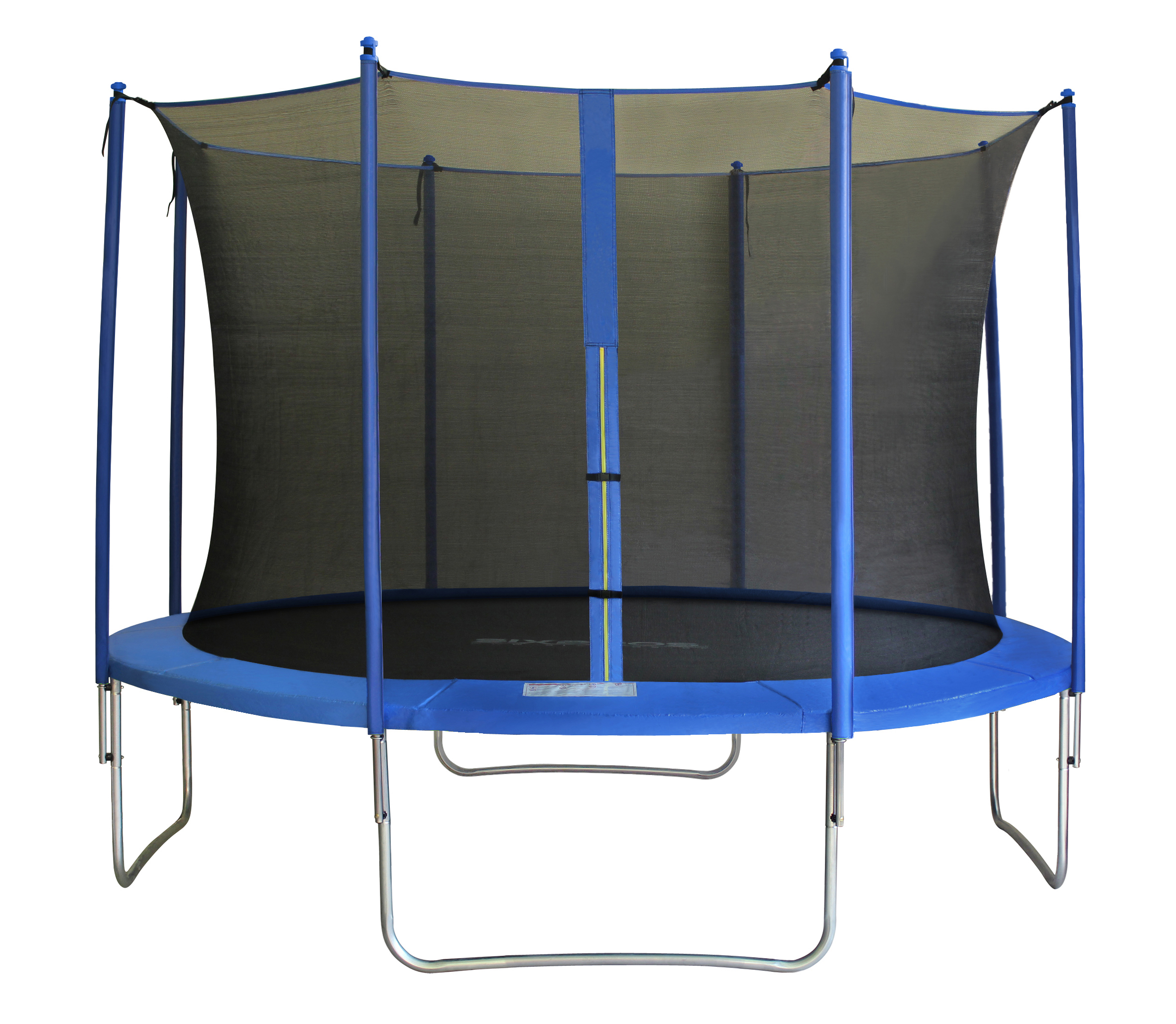 Sixbros sixjump trampoline de jardin filet a l int rieur for Trampoline interieur
