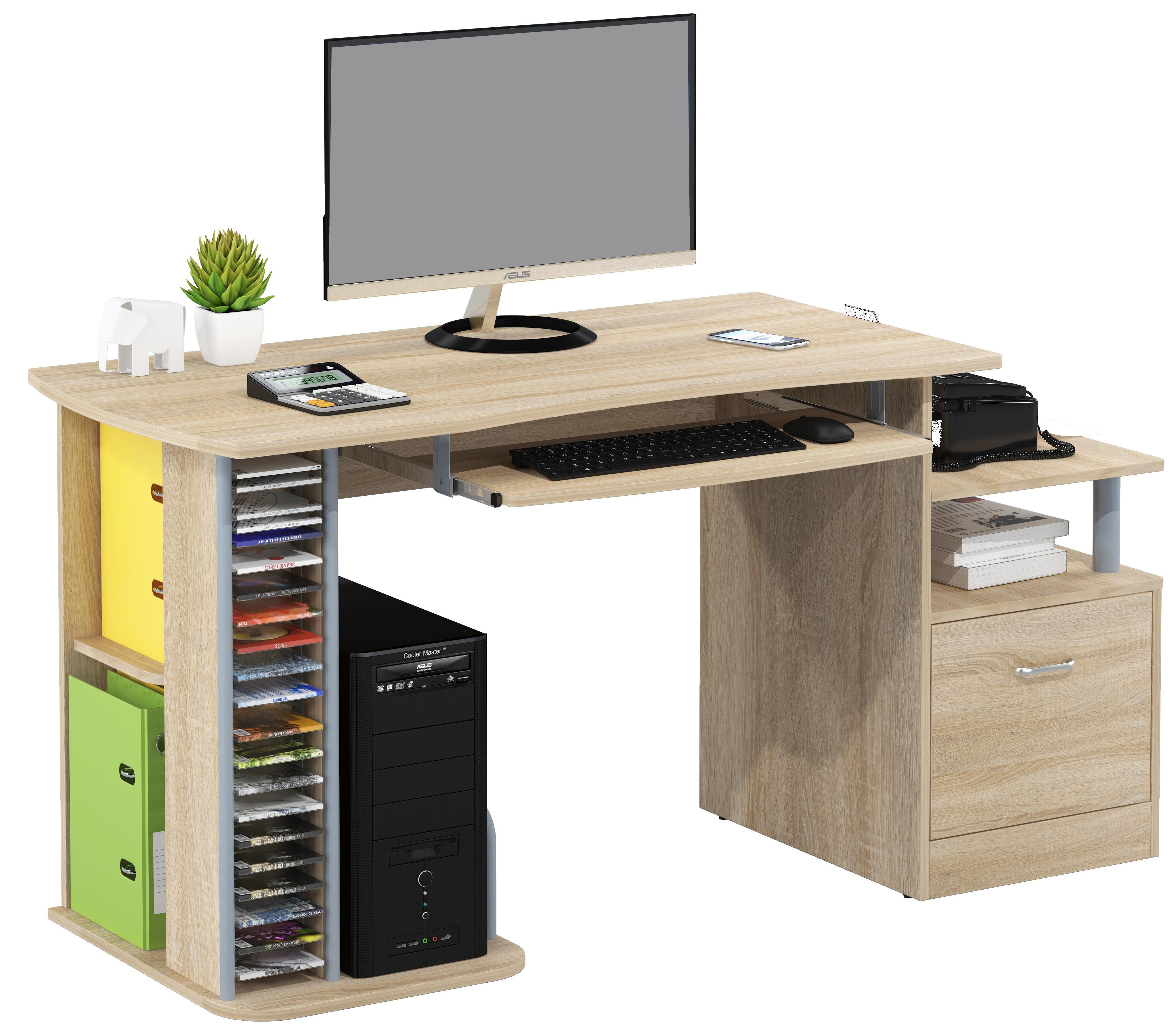 Sixbros scrivania porta pc tavolo ufficio diversi colori for Tavolo scrivania