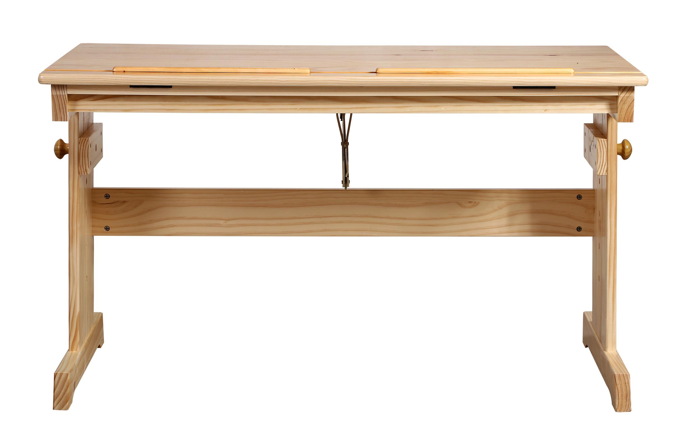bureau pour enfant en bois de pin massif naturelle rd00177. Black Bedroom Furniture Sets. Home Design Ideas