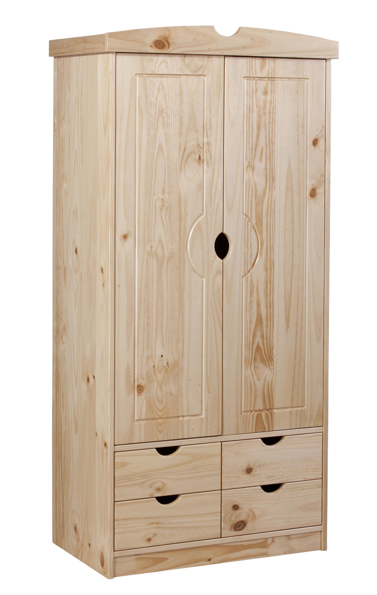 sixbros kleiderschrank kiefer schrank massiv holz natur. Black Bedroom Furniture Sets. Home Design Ideas