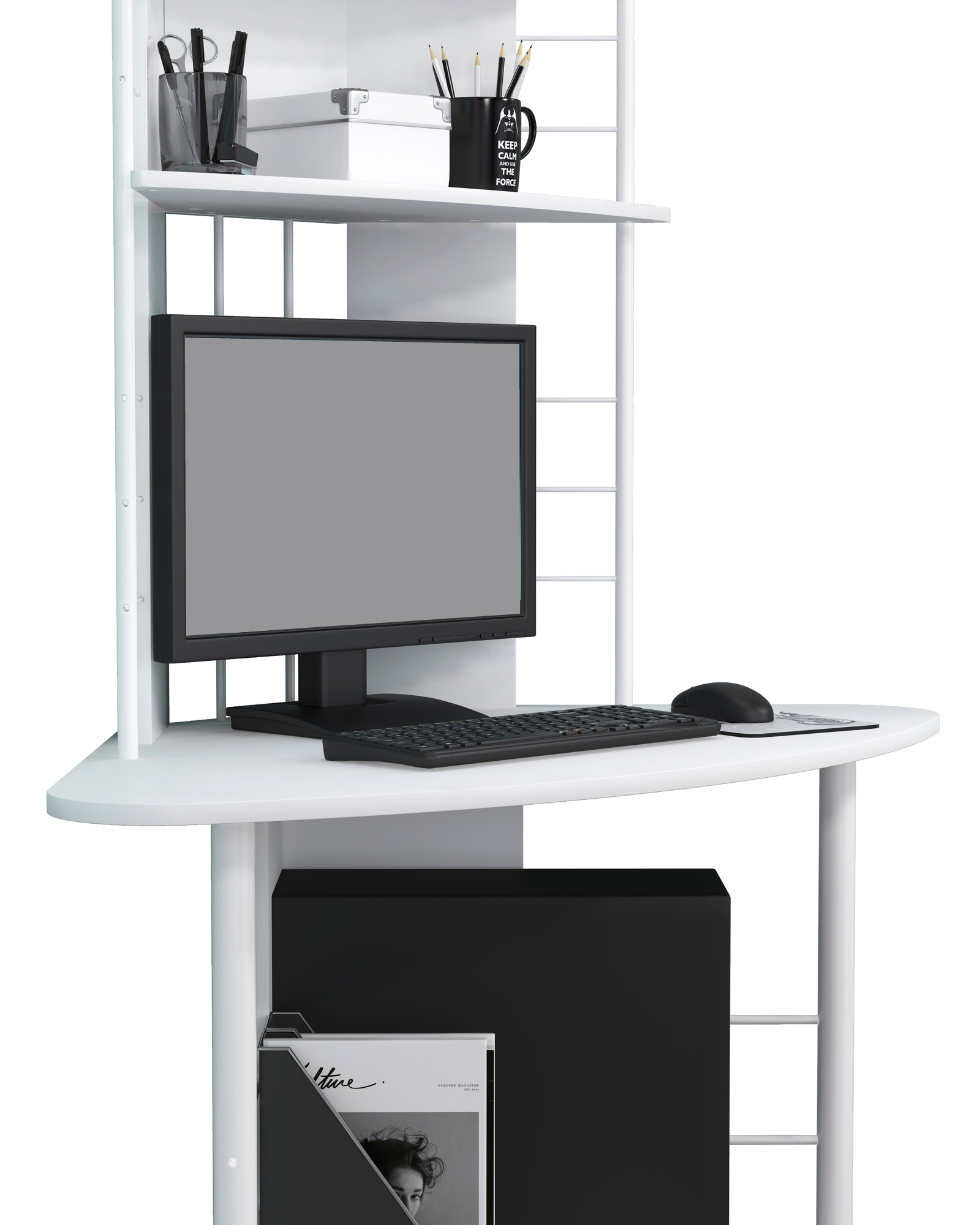 Sixbros scrivania porta pc angolare tavolo ufficio - Tavolo porta pc ...