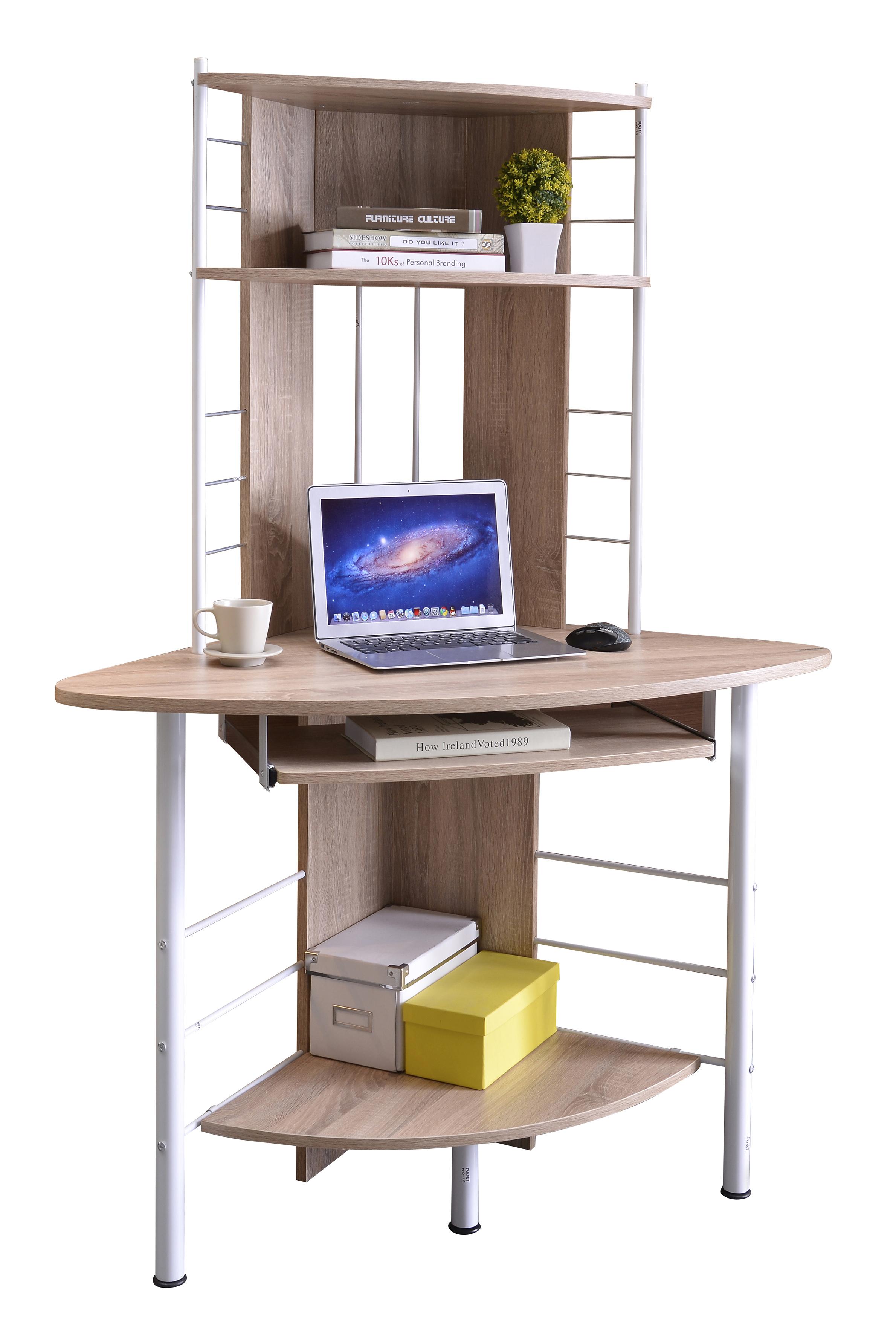 Corner Computer Desk: SIXBROS CORNER COMPUTER DESK WORKSTATION WORK TABLE